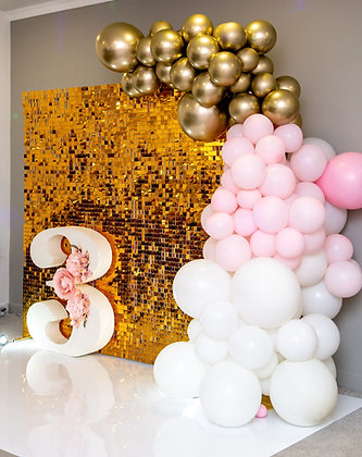 Фотозона Пайетки золото+ цифра