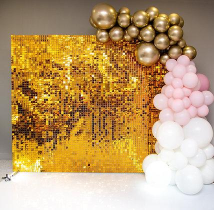 Фотозона Пайетки золото