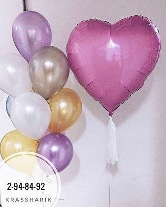 Набор 1065 с сердцем 80см