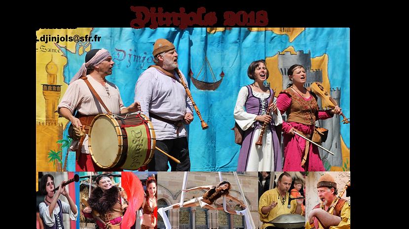 Djinjols fête médiévale spectacle église spectacle tissu aérien animation de rue animation de banquet animation scolaire école animation pédagogique