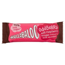hullabaloo raspberry nougat chocolate bar