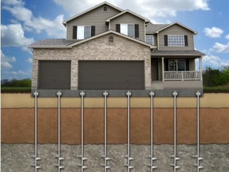What is the right way to stabilize my sinking foundation?