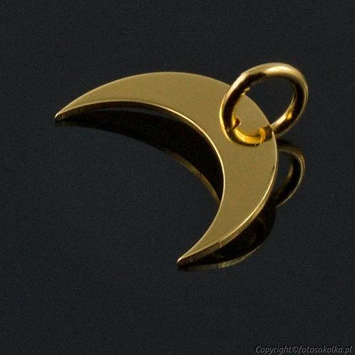 Złocona zawieszka księżyc