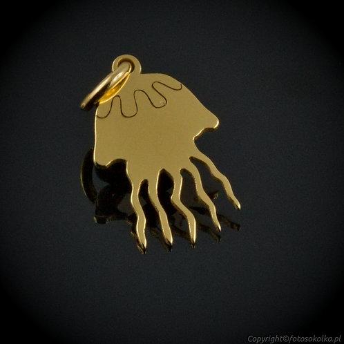 Złocona zawieszka meduza