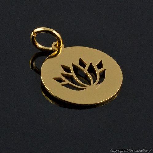 Złocona zawieszka kształt lotosu