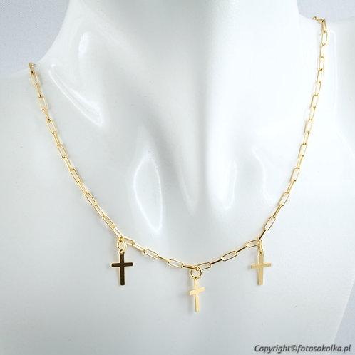 Złocony łańcuszek z krzyżykami
