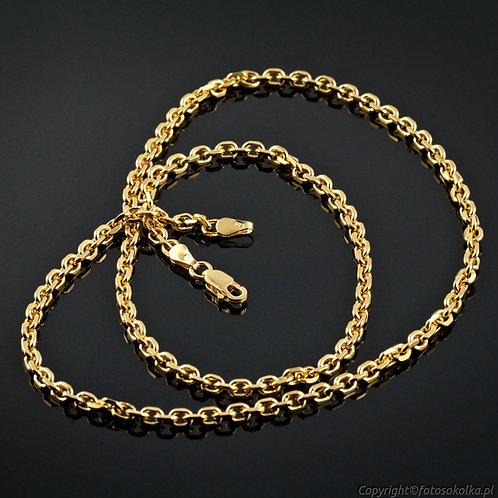 Złocony łańcuszek ankier diamentowany