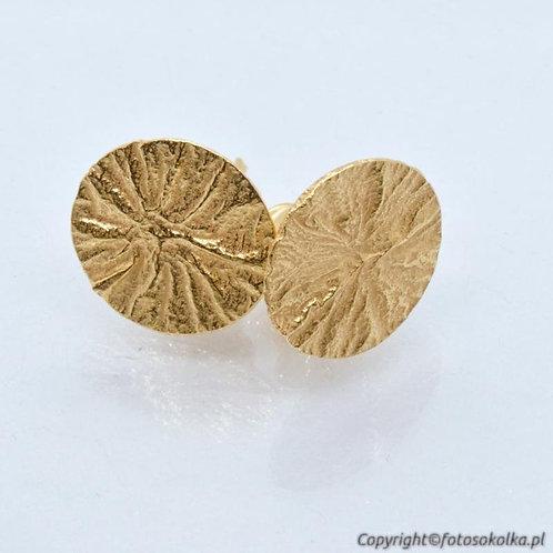 Kolczyki fakturowane i złocone