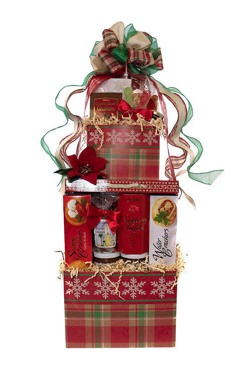 Cozy Holiday Gift Tower