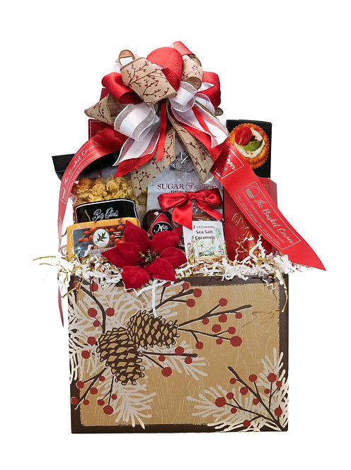 Woodland Berry Pine Holiday Gift Basket