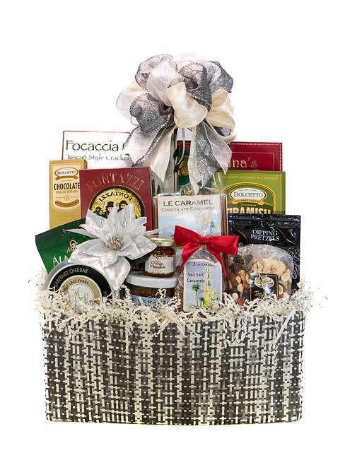 Executive Holiday Canvas Gift Basket