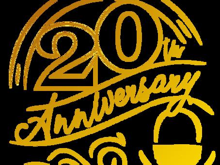 Come Celebrate Our 20th Anniversary in Business