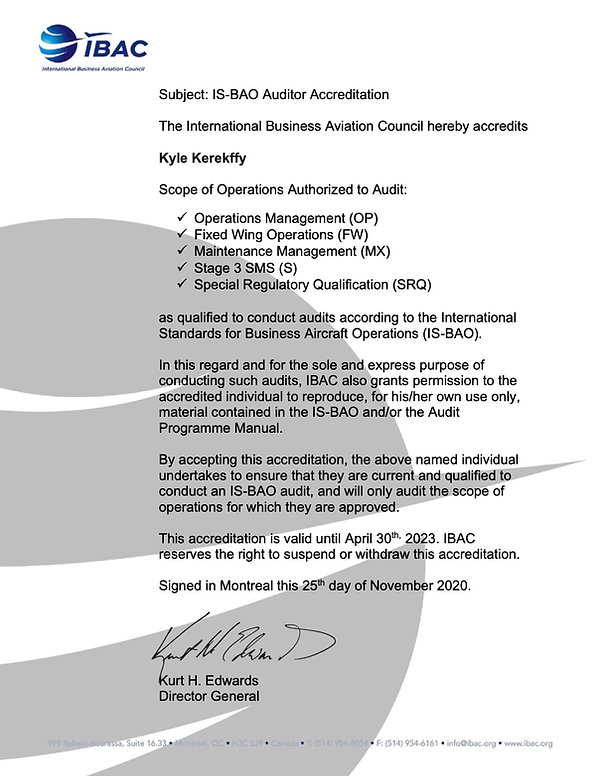 2023 IS-BAO Auditor Accreditation Letter