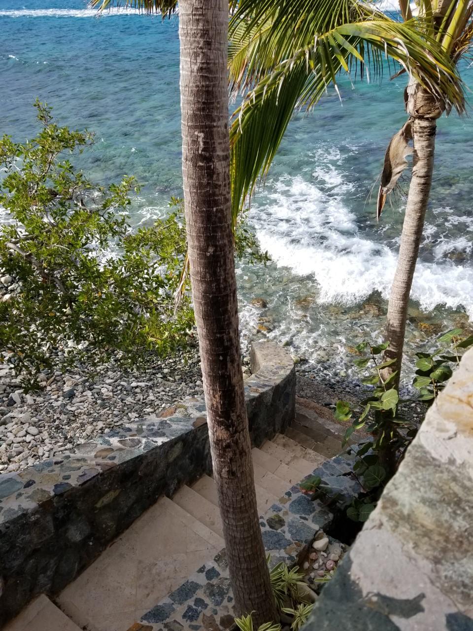 Stair to ocean