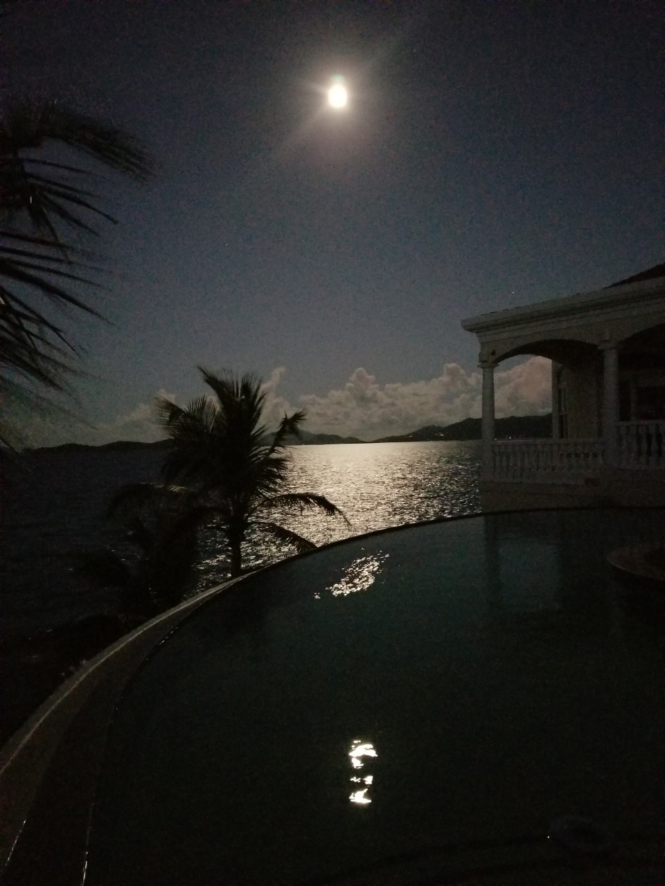 Full moon over St John from deek