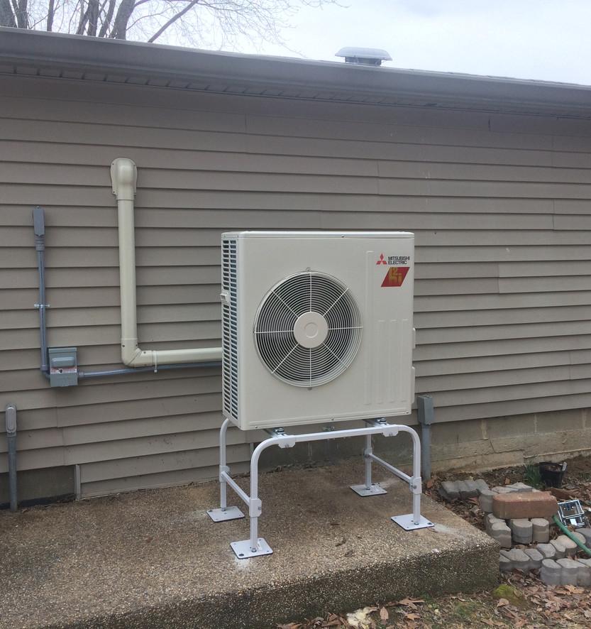 Hyper heat pump mini split system installation