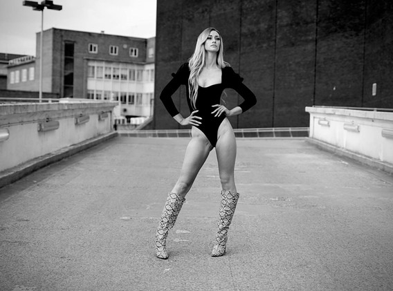 Tegan Black and White Rooftop