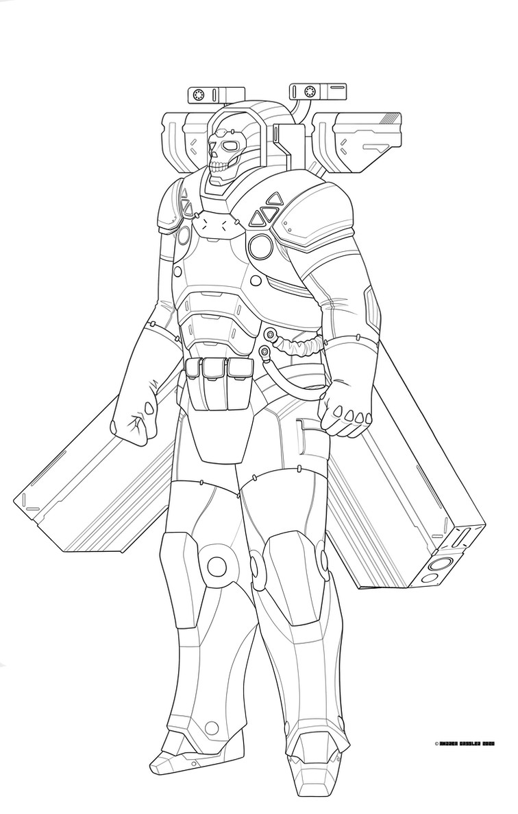 Conglomerate Arcology Enforcer Linework