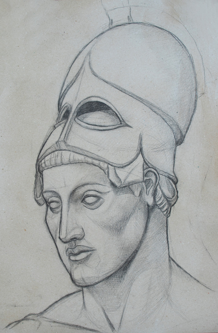 Ares with helmet