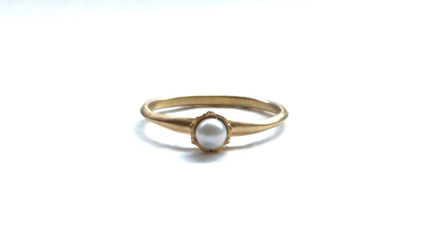 Frill akoya pearl ring