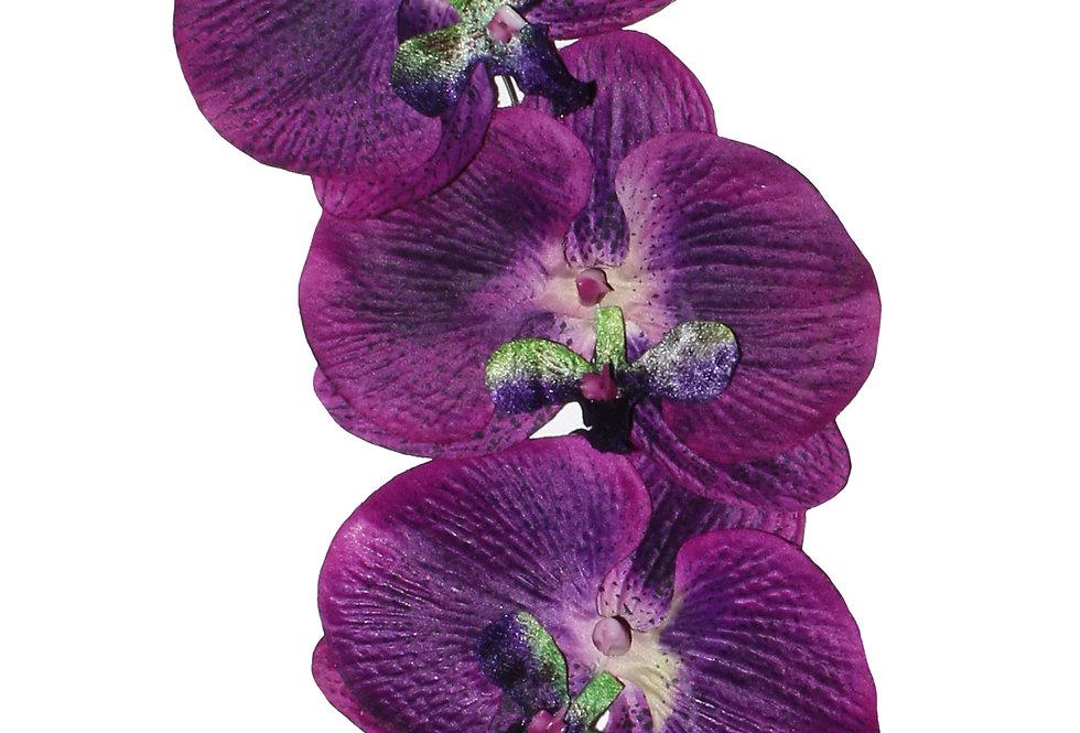 ISADORA Purple Orchid Cascade Hair Flowers