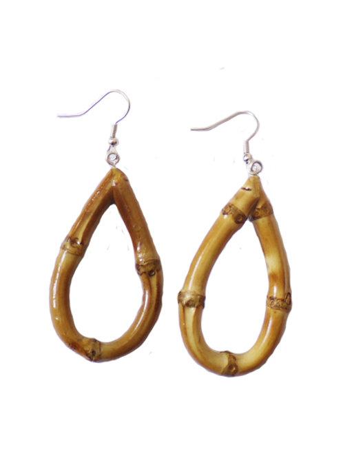 Oval Tiki Bamboo Earrings (Original)