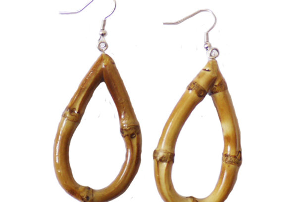 Oval Bamboo Earrings (Original)