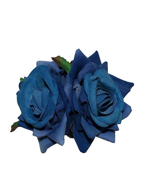 ELLEN Small Double Roses - Blue