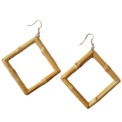 Square Tiki Bambo Earrings (Original)