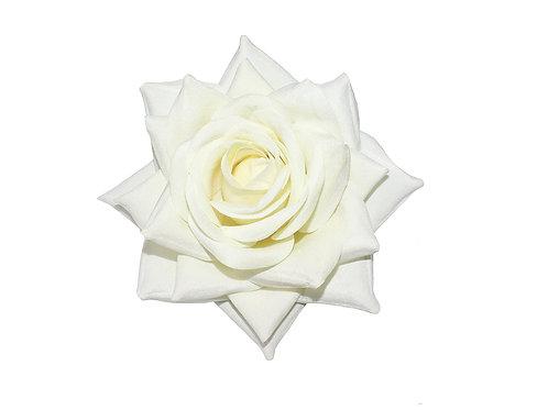 ESME Large Cream Velvet Rose Hair Flower