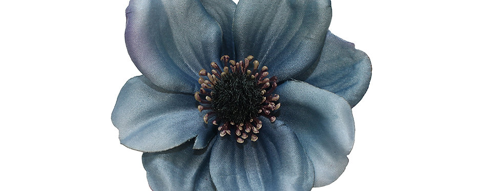 SOPHIA Single Anemone Hair Flower -Grey
