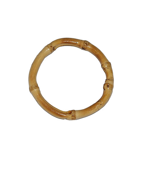 Single Tiki Bamboo Bangle -Natural