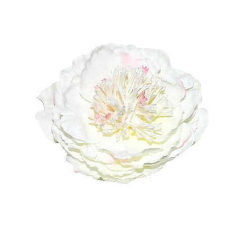 Large White Peony Hair Flower