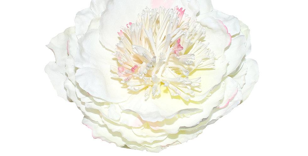 Large White Peony Vintage Hair Flower