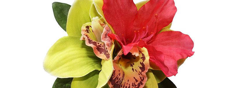 Tropical Orchid and Rhododendron Hair Flower