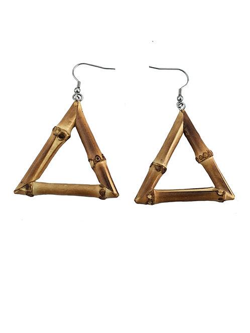 Triangle Tiki Bamboo Earrings (Original)