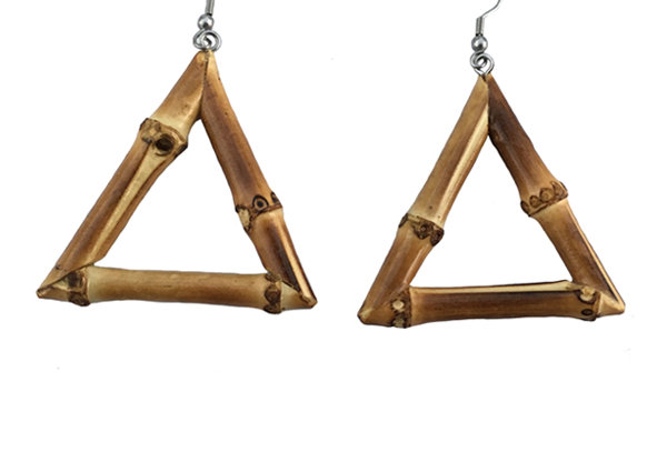 Triangle Bamboo Earrings