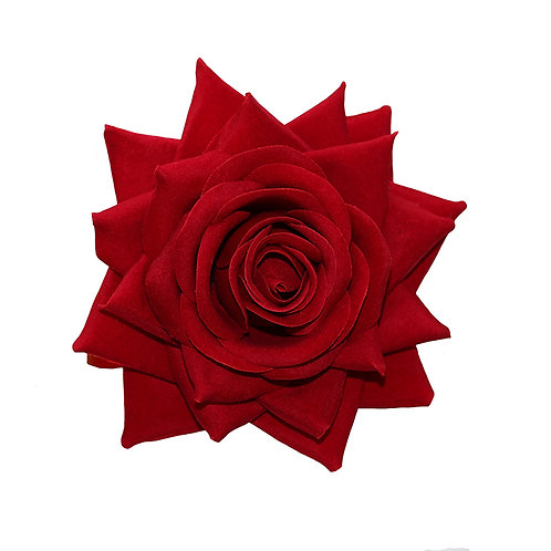 ESME Large Red Velvet Rose Hair Flower