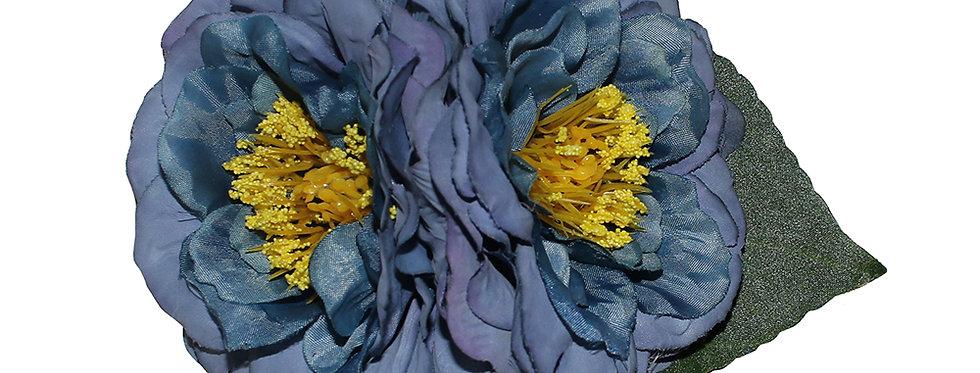 GEORGIA Blue Vintage Style Peony Hair Flower