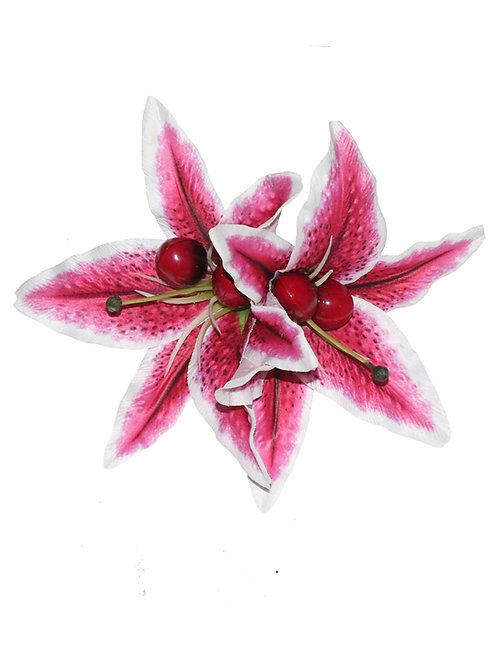 QUEENIE Double Stargazer Lily with Cherries