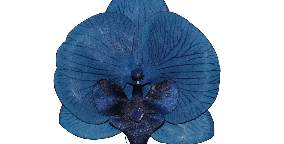 Muriel Blue Orchid Hair Flower