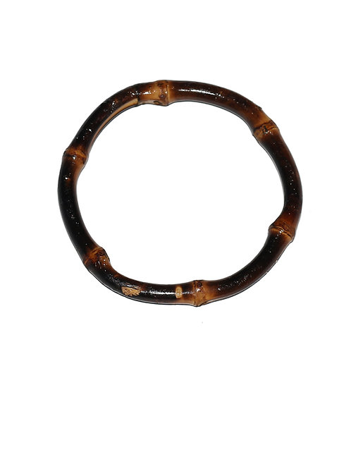 Single Tiki Bamboo Bangle - Burnt Wood