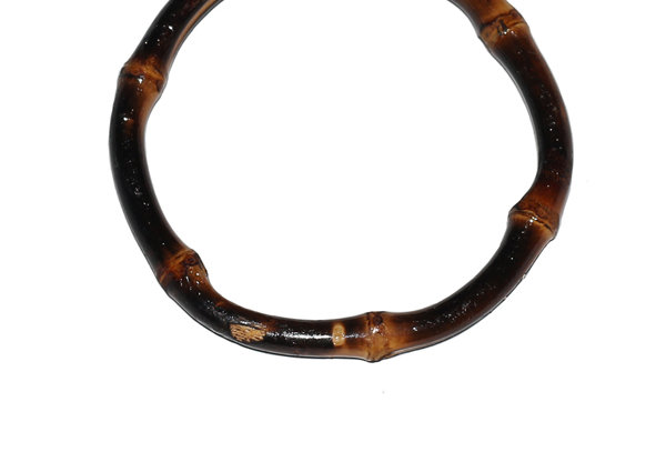 Tiki Bamboo Bangle - Burnt Wood