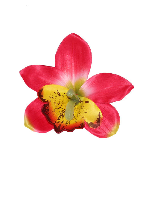 GIGI Red Orchid Hair Flower