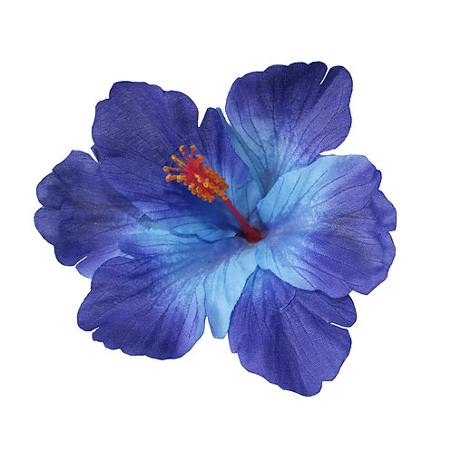 DEBRA Hibiscus Hair Flower in Blue