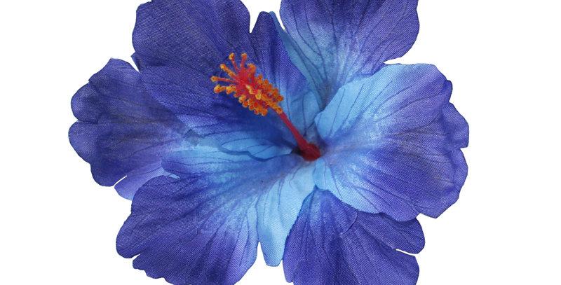 DEBRA Blue Hibiscus Hair Flower