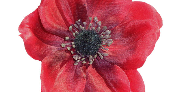 SOPHIA Single Anemone Hair Flower - Red