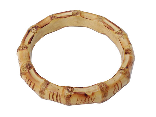 Chunky Tiki Bamboo Bangle - Natural