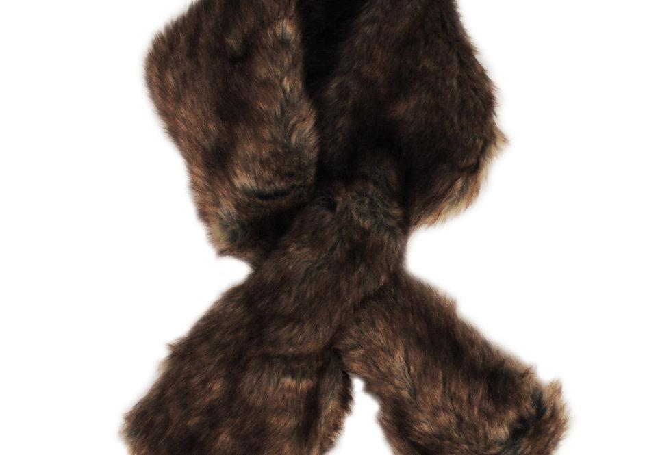 Brown Faux Fur Stole