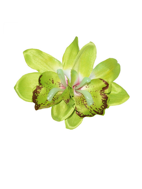 GIGI Double Lime Green Orchid Hair Flower